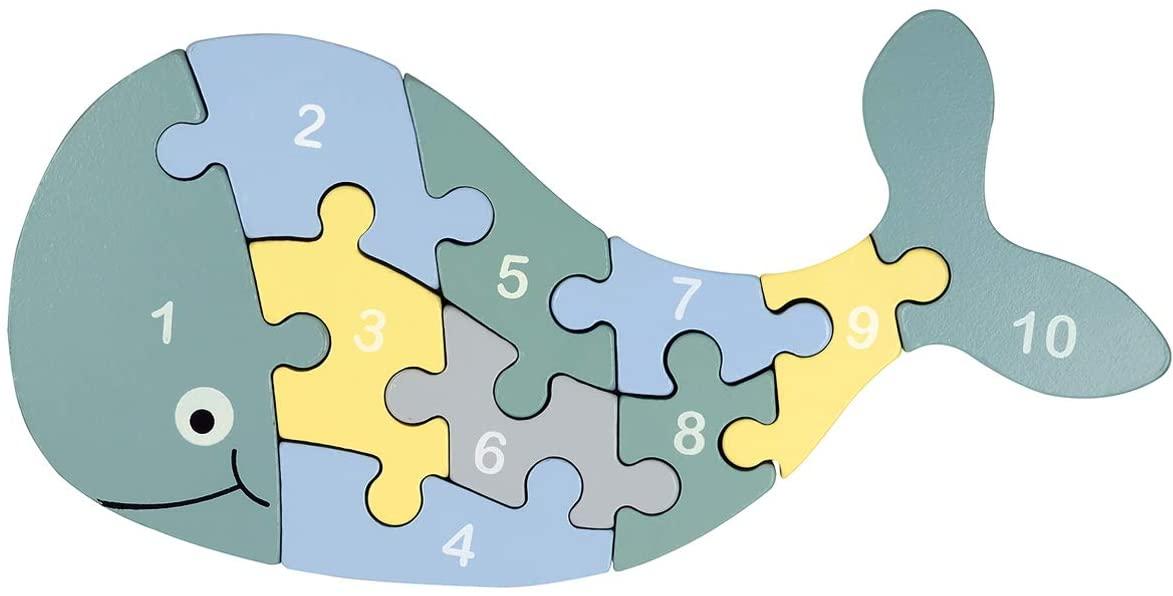 puzzle en bois baleine