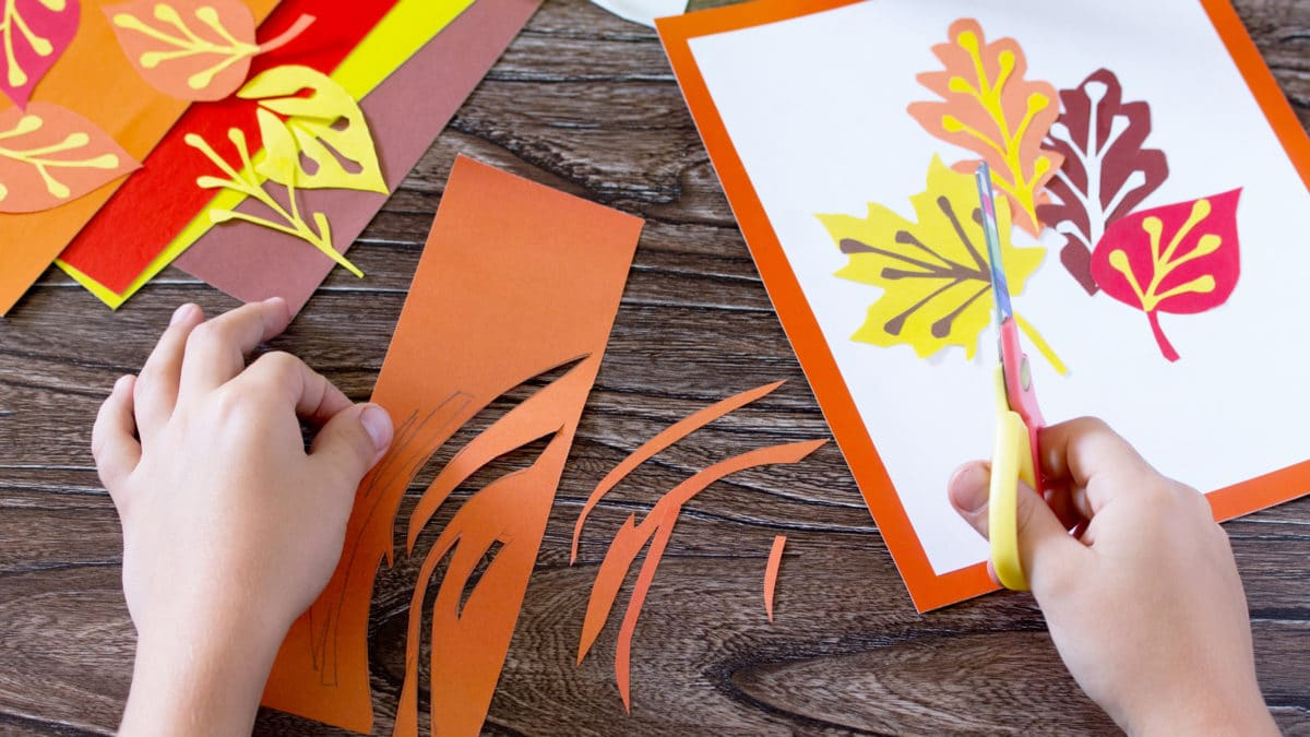 Automne : matériel et fournitures pour activités créatives