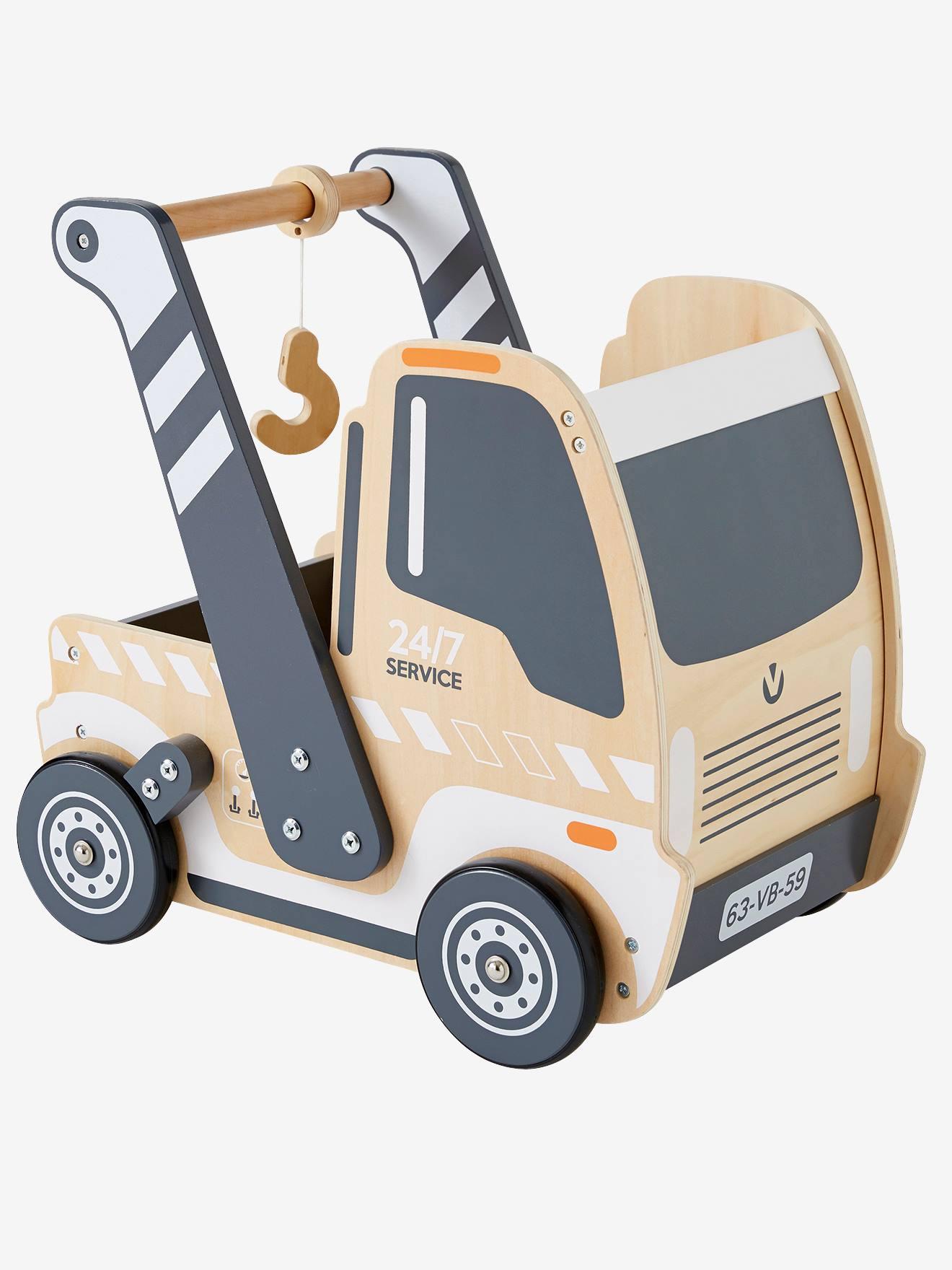 chariot bébé en bois