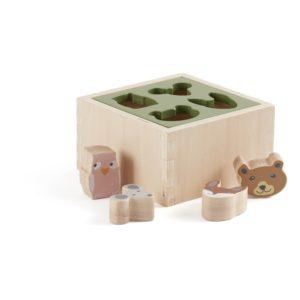 boite pour ranger des formes en bois