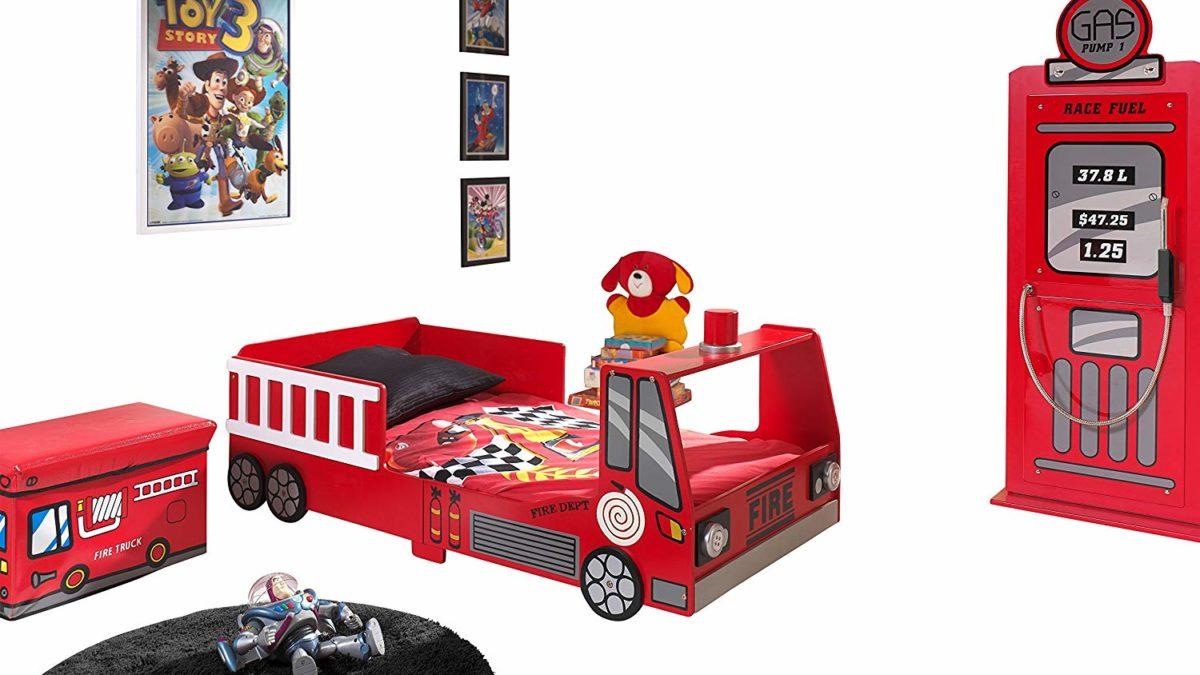 Chambre enfant pompier : meubles et déco