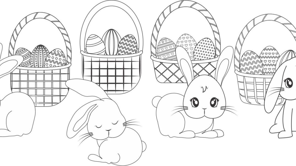 Coloriage de Pâques, coloriages de Pâques à imprimer pour dessiner, Dessiner et colorier Pâques