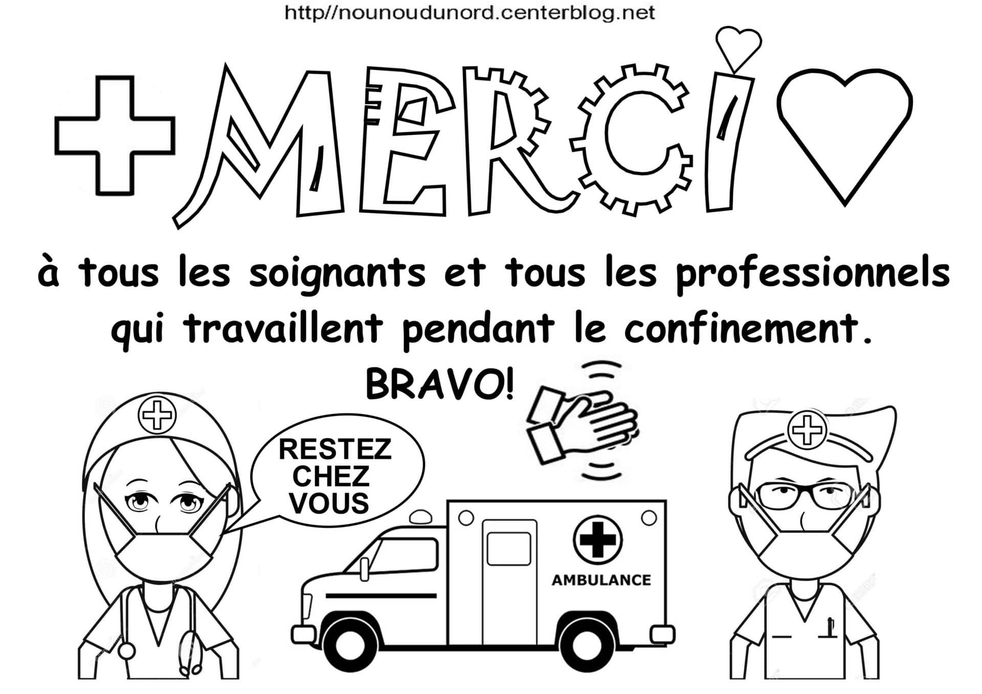 Coloriage Merci Aux Soignants De Nounoudunord Un Max D Idees