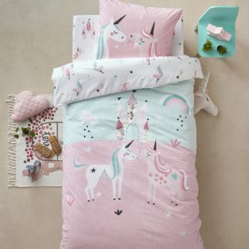linge de lit licorne enfant