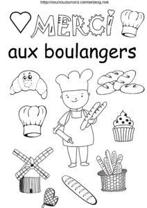 coloriage confinement boulanger