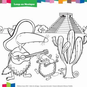 coloriage enfant loup au mexique editions auzou