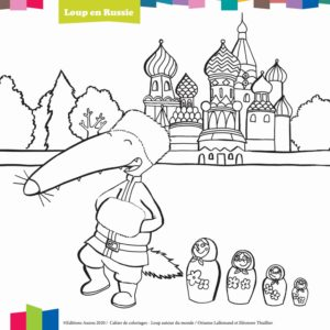coloriage loup en russie editions auzou