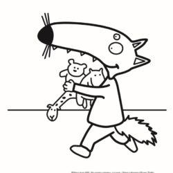 coloriage petit loup enfant 2 ans, 3 ans, 4 ans, 5 ans gratuit à imprimer