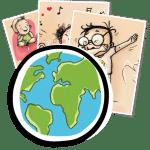 gestes barrieres affiches en international