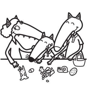petit loup coloriage famille gratuit editions auzou