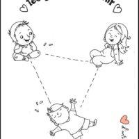 coloriage distance enfant covid