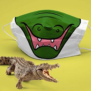 masque covid 19 crocodile