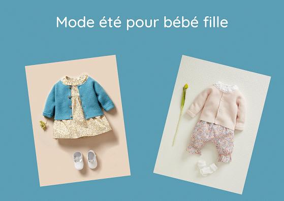 Mode printemps-été bébé fille : idées pour le dressing, vêtements bébé fille de 0 à 36 mois