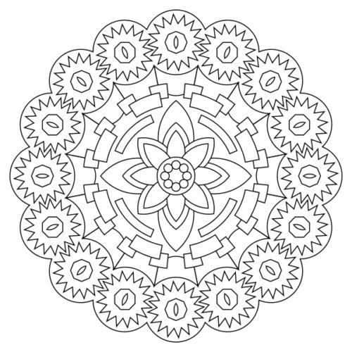 coloriage mandala pour enfant