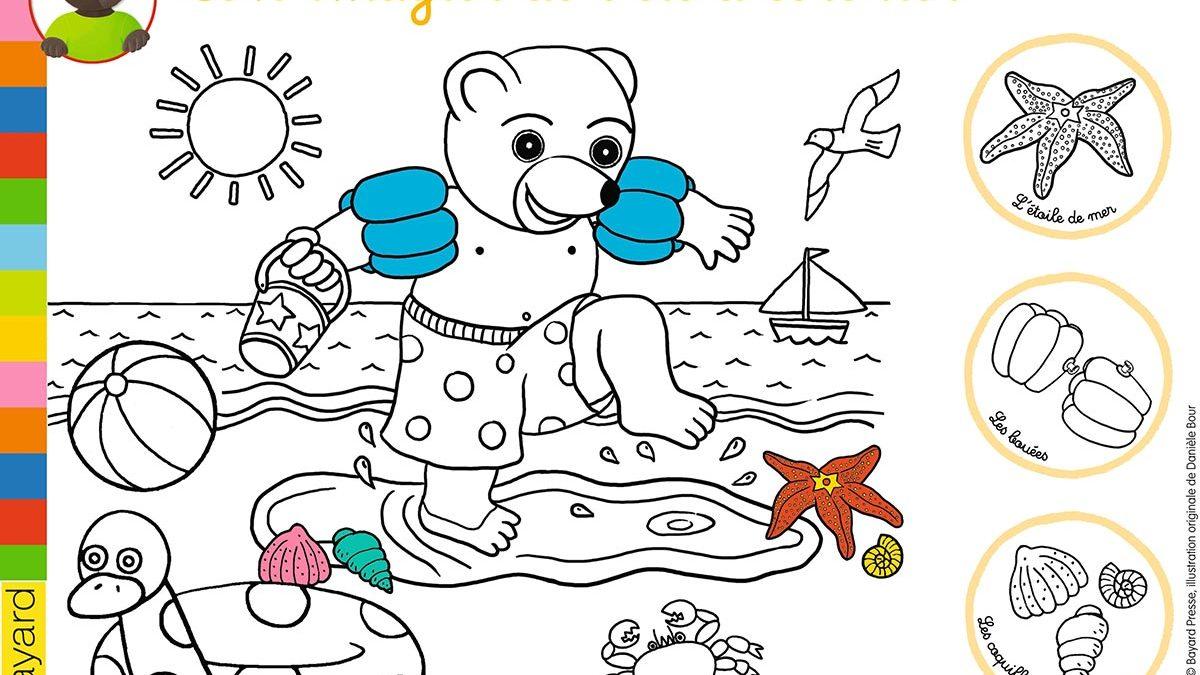coloriage petit ours brun : les coloriages gratuits