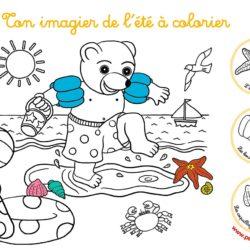 coloriage de petit ours brun à imprimer - imprimer un coloriage gratuit de petit ours brun