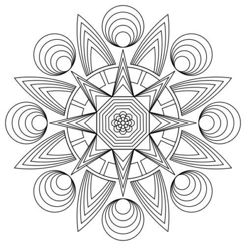 mandala étoile à colorier