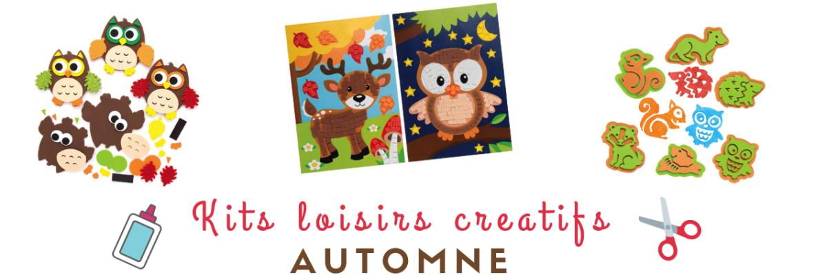 Kits loisirs creatifs automne matériel et bricolage enfant