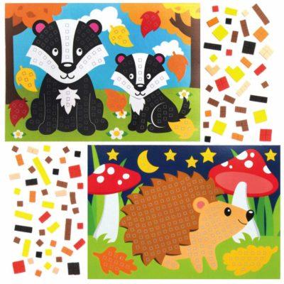 activités collage mosaïques automne enfant