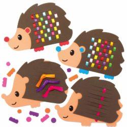 activités d'automne pour enfant tisser hérisson avec ruban kit créatif