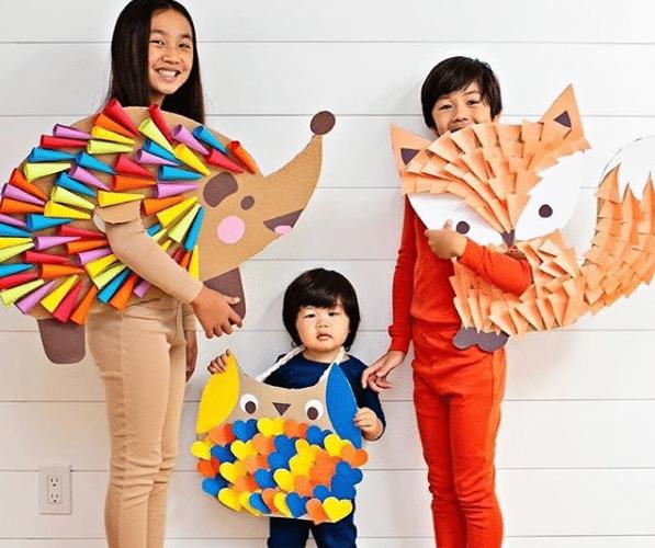 decoration automne idée créative avec du carton et du papier