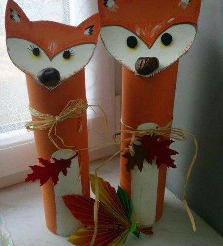 decoration en carton automne