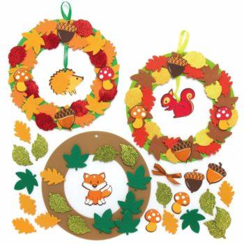 fabriquer une couronne d'automne en mousse bricolage enfant