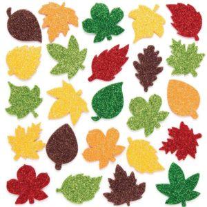 fourniture créative feuille d'automne paillette lot de 144 kit créatif enfant