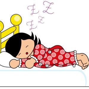 image petite fille qui dort