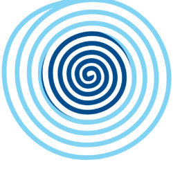 image spirale bleu
