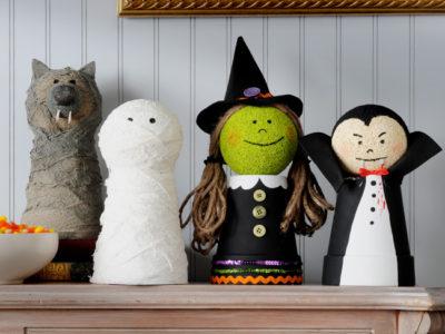 activité facile halloween fabriquer des personnages