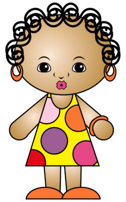 clipart fille africaine