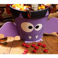 décorer un pot pour des friandises halloween activité deco halloween
