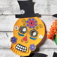masque tête de mort mexicaine avec gabarit
