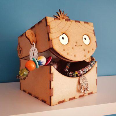 boîte de rangement émotions pour bijoux cadeau enfant ado adulte