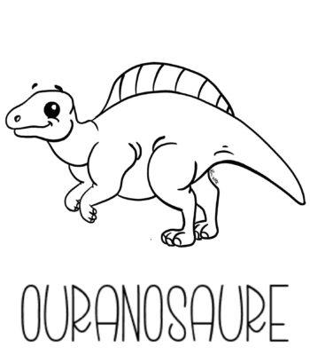 coloriage ouranosaure copyright Lin'ette illustration