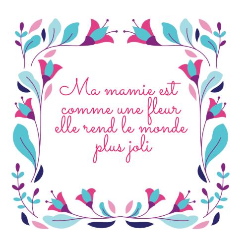 carte fête des grands mères à imprimer