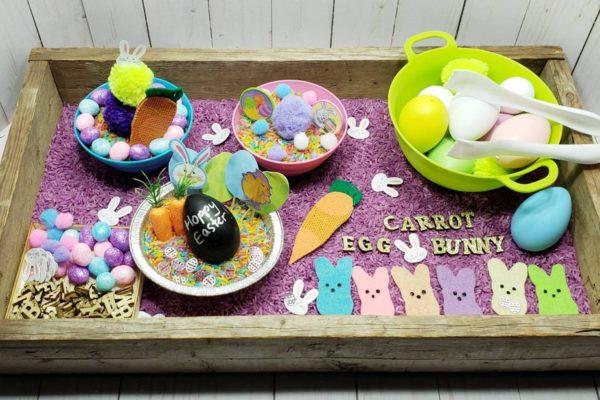 bac de pâques activité montessori pour enfant 3 à 6 ans