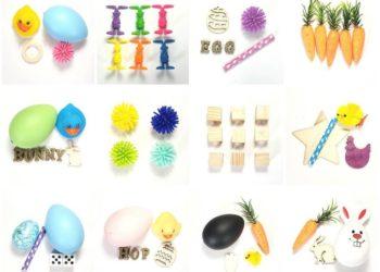 contenu kit créatifs pour bac sensoriel pâques