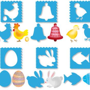 pochoir pâques pour décorer activités manuelles enfant