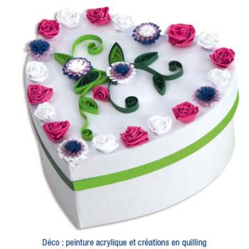 boîte coeur cadeau fête des mères à décorer enfant