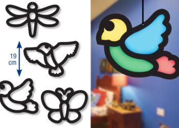 bricolage vitrail nature et printemps pour enfant