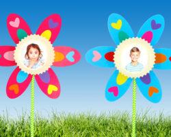 cadre photo fleurs idée bricolage enfant