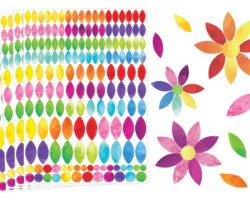 gommettes fleurs et feuilles pour activités manuelles