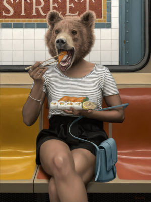 ours peinture à l'huile mattehew Grabelsky