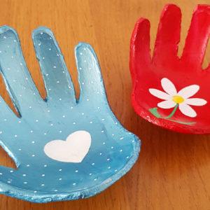 cadeau fête des mères coupelle empreinte main