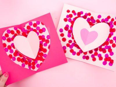 carte coeur facile pour petit cadeau fête des mères