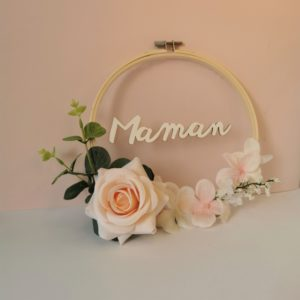 diy couronne de fleurs cadeau fête des mères